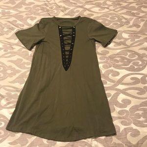 Dresses & Skirts - NWOT army green dress